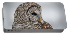 Portable Battery Charger featuring the photograph Barred Owl Portrait by Paul Freidlund