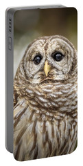 Portable Battery Charger featuring the photograph Hoot by Steven Sparks