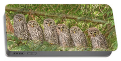 Barred Owlets Nursery Portable Battery Charger