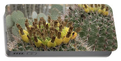 Barrel Cactus Closeup Portable Battery Charger by Anne Rodkin
