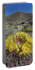 Portable Battery Charger featuring the photograph Barrel Cactus Super Bloom by Peter Tellone