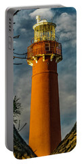 Portable Battery Charger featuring the photograph Barrny Thru The Trees by Nick Zelinsky