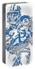Barry Sanders Detroit Lions Pixel Art 2 Portable Battery Charger