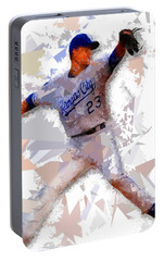 Portable Battery Charger featuring the painting Baseball 23 by Movie Poster Prints
