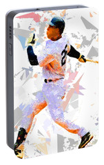 Portable Battery Charger featuring the painting Baseball 25 by Movie Poster Prints