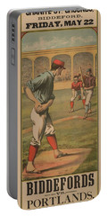 Baseball Biddefords Vs Portlands May 22 1885 Portable Battery Charger
