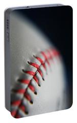 Baseball Fan Portable Battery Charger by Rachelle Johnston