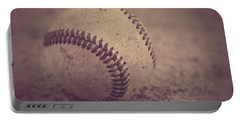 Baseball In Sepia Portable Battery Charger