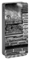 Baseball Time In Philly - Bw Portable Battery Charger