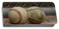 Baseballs Portable Battery Charger