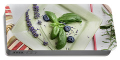 Portable Battery Charger featuring the photograph Basil Still Life 2 by Rebecca Cozart