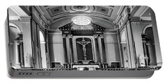 Portable Battery Charger featuring the photograph Basilica Of Saint Louis King - Black And White by Nikolyn McDonald