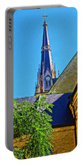 Basilica Of The Sacred Heart Notre Dame Portable Battery Charger by Dan Sproul