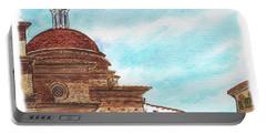 Portable Battery Charger featuring the painting Basilica San Lorenzo Florence Italy by Irina Sztukowski