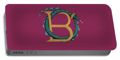 Portable Battery Charger featuring the digital art Basilisk Letter B by Donna Huntriss