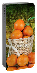 Basket Full Of Oranges Portable Battery Charger