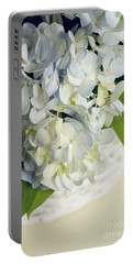 Basket Of Blue Hydrangeas Portable Battery Charger