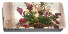 Basket Of Flowers In Window Portable Battery Charger