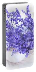 Basket Of Lavender Portable Battery Charger by Stephanie Frey