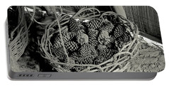 Basket Of Pine Cones Portable Battery Charger