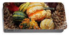 Basket Of Pumpkins Portable Battery Charger