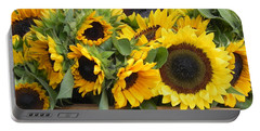 Basket Of Sunflowers Portable Battery Charger by Chrisann Ellis