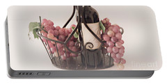 Basket Of Wine And Grapes Portable Battery Charger