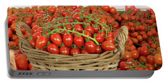 Basket With Red Tomatoes Portable Battery Charger