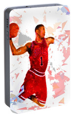 Portable Battery Charger featuring the painting Basketball 1 by Movie Poster Prints