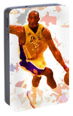 Portable Battery Charger featuring the painting Basketball 24 A by Movie Poster Prints