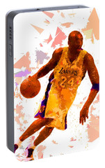Portable Battery Charger featuring the painting Basketball 24 by Movie Poster Prints