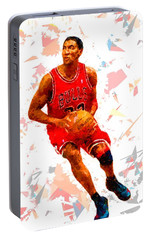 Portable Battery Charger featuring the painting Basketball 33 by Movie Poster Prints