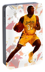 Portable Battery Charger featuring the painting Basketball 37 by Movie Poster Prints