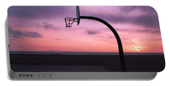 Basketball Court At Sunset Portable Battery Charger