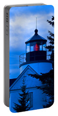Bass Harbor Lighthouse Blue Portable Battery Charger