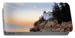 Bass Harbor Sunset II Portable Battery Charger by Elizabeth Dow