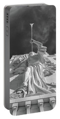 Portable Battery Charger featuring the photograph Bass Performance Hall Angel by Guy Whiteley