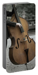 Bass Player In The Park Portable Battery Charger