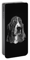 Portable Battery Charger featuring the drawing Basset Hound by Rachel Hames