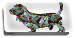 Basset Hound Spirit Glass Portable Battery Charger