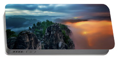 Bastei Bridge Night View, Saxon Switzerland, Germany Portable Battery Charger