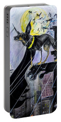 Bat-dog Caricature  Portable Battery Charger
