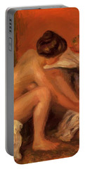 Bather Drying Her Feet 1907 Portable Battery Charger