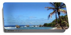 Portable Battery Charger featuring the photograph Bathsheba, Barbados, by Kurt Van Wagner