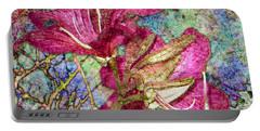 Batik Lilies Portable Battery Charger