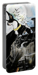Batman Boston Terrier Caricature Art Print Portable Battery Charger