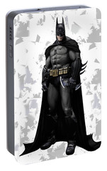 Portable Battery Charger featuring the mixed media Batman Splash Super Hero Series by Movie Poster Prints