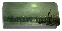 Battersea Bridge By Moonlight Portable Battery Charger