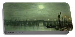Battersea Bridge By Moonlight Portable Battery Charger by John Atkinson Grimshaw