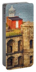 Portable Battery Charger featuring the photograph Battery Weed At Fort Wadsworth Nyc by Susan Candelario